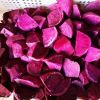 Fresh IQF Frozen Vegetables , Snap Frozen Natural Sweet Purple Potatoes Manufactures