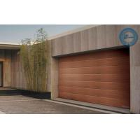 Wooden Sleek Sectional Garage Door Stripes Panel Steel Work Manufactures