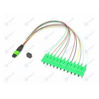 Male Type MPO Patch Cord , 12 Cores SC Apc Patch Cord For Testing Equipment Manufactures