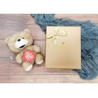 Gold Small Cardboard Gift Boxes With Gold Bowknot , Individual Cardboard Boxes Manufactures