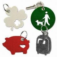 Laser-cut Felt Free Form Keychains with Metal Eyelet Punched Manufactures