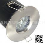 MR16 GU10 Aluminium Bathroom IP65 Fire Rated Downlight Fittings - Satin Nickel