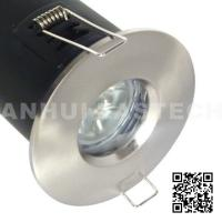 Quality MR16 GU10 Aluminium Bathroom IP65 Fire Rated Downlight Fittings - Satin Nickel Color for sale