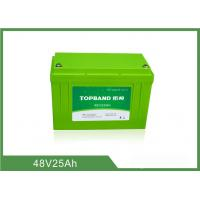 China Lifepo4 Motorcycle Battery 48V 25Ah , Lithium Deep Cycle Battery TB4825F-M120A on sale