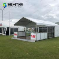 China Popular cheap glass wall tent big  aluminum alloy textile fabric party tent festival tent event tent on sale