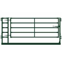 Green Portable Livestock Fence Panels, Sheep / Goat Corral Panel With Gate Manufactures