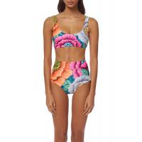 High Waisted Floral Printing Womens Swimming Suits Tie Knot  2 Pcs Sets Swimwear Manufactures