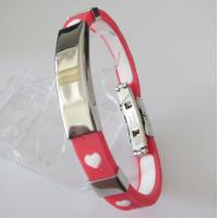Personalized Fashion Jewelry Friendship Rubber Bracelets with Heart Manufactures