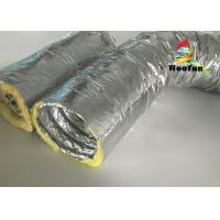 Round 10 Inch HVAC Duct Insulation Wrap , Aluminum Foil Insulated Ventilation Metal Duct Insulation Wrap Manufactures
