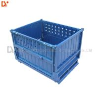 Collapsible Storage Folding Plastic Pallet Boxes Heavy Duty For Workshop And Logistic Manufactures