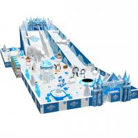 China snow theme plastic kids indoor play structure with various games on sale