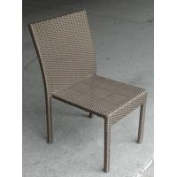 China PE Wicker Steel Outdoor Rattan Chairs Without Armrest for All Weather on sale