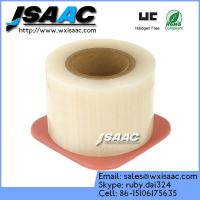 Adhesive edges clear barrier film with dispenser Manufactures