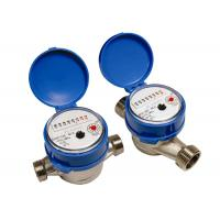 Brass Single Jet Water Meter , Super Dry Cold Water Meter DN15mm Manufactures
