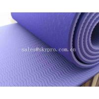 Eco - Friendly Custom Printing Rubber Sole Sheet Anti Slip TPE Yoga Mat Manufactures
