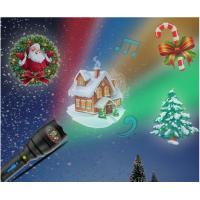 Christmas Indoor Super Bright LED Flashlight , Handheld Projector Black Blue