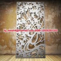 laser cut metal screen with customized pattern Manufactures