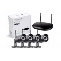 Quality H.265 Waterproof Home Wireless Cctv 4 Camera Kit With Mini NVR P2P Service for sale