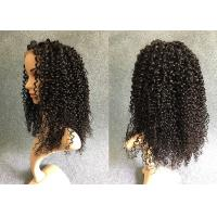 China Full And Thick Lace Front Human Hair Wigs / Brazilian Virgin Hair Extension on sale