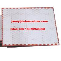 China excellent quality alumina ceramic hexagonal tiles polyurethane wear liner plate on sale