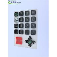 China Customized Color Silicone Numeric Keypad Cell Phone Button Easy To Clean on sale