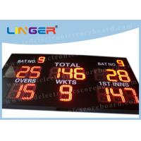 12 inch Digit in Red Color LED Cricket Scoreboard Hanging / Mounting Installation Manufactures