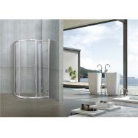 6 MM Chromed Profiles Shower Cabins Copper Rollers With Shower Shelf Sliding Moving Door Manufactures