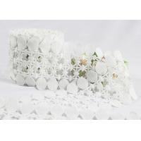 China Scalloped Cotton Crochet Lace Trim / Cotton Lace Edging For Winter Dress on sale