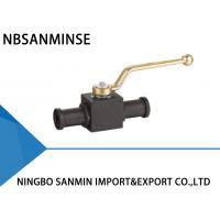 KHB KHM Shut Off Hydraulic Ball Valve Carbon Steel 16mm 20mm 25mm Diameter With SAE Flange Manufactures