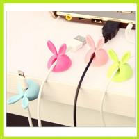 cute rabbit silicone holder of cable drop clip Manufactures