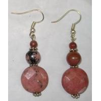 Faceted Rhodonite Coin Earring Manufactures