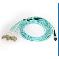 OM3 / OM4 Male Type MTP / MPO Fiber Optic Patch Cord with 3.0mm Fiber Cable Manufactures