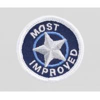 Embroidery military uniform badge, velcro backing embroidery badge Manufactures