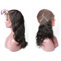 High Density 360 Lace Wig Virgin Remy Human Hair Body Wave / Natural Hairline Manufactures