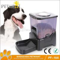 China Large capacity black automatic pet feeder on sale