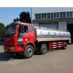 15001 - 30000L Fresh Milk Tanker Truck , FAW 15.3m3 304 Stainless Steel 6*4 Transport Truck Manufactures