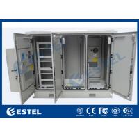 Four Doors Network Enclosure Cabinet IP55 Three Compartment Air Conditioner Cooling Manufactures