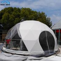 White Pop Up Geodesic Dome Tent UV Protected Steel Frame House Manufactures