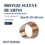 Diamond Oil Socket Split Sleeve Bronze Bushing Customized Size 35mm 39mm 40mm Manufactures