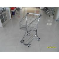 Buy cheap Zinc Plated PPG Powder Coating  Market Shopping Trolley With Elevator Casters from wholesalers