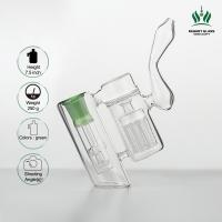 Showerhead Diffuser Glass Ash Catcher 5 Inches Green 8 Fingers Water Pipe Glass Bong Manufactures