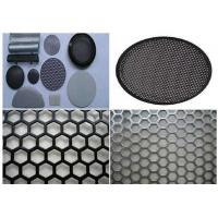 Durable Round Hole Mesh 5mm Wire  , Aluminum Sheet Metal With Round Holes  Manufactures