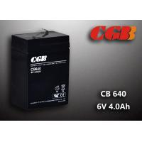 CB640 No Leaking Sealed Lead Acid Battery 6v 4ah , High Efficiency Ups Battery Manufactures