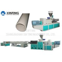 Profile Twin Screw PVC Pipe Extrusion Line, Plastic Tube Making MachineLow Noise Manufactures