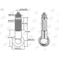 Brass Material Aircraft Cable Hangers / Wire Cable Hanging System With Safety Nut Manufactures