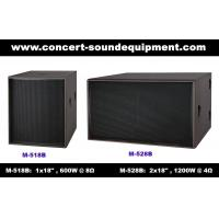 "Disco Sound Equipment / 2x18"" Direct Reflex 4ohm 1200W Subwoofer For Concert , Nightclub And Living Event Manufactures"