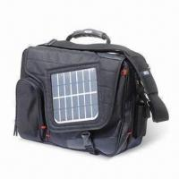 China Travel Solar Bag with Charger for Lapotop/Cell Phone/Digital Device, Made of 1680D Polyester on sale