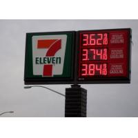 Back Service Electronic 24 Gas Station Led Signs For Canopy Price Changing Manufactures