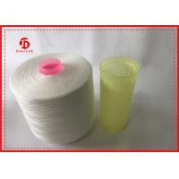 China 1.67kg / Cone Raw White 100% Polyester Ring Spun Yarn Paper Cone For Sewing wholesale