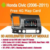 Honda Civic 2006-2011 Android Auto Radio DVD Player with GPS Navigation Wifi 3G Digital TV RDS CAN Bus Manufactures